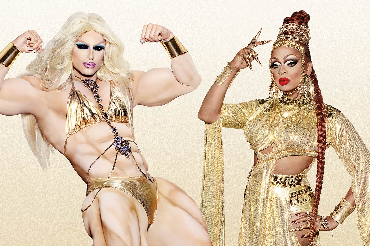 RuPaul's Drag Race queens Milk and Kennedy Davenport.